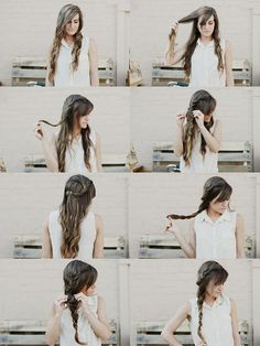 Double braid tutorial. Maybe for a day I'm feeling more ambitious. ;)