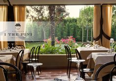 Ristorante I Tre Pini Firenze....Beautiful outdoor garden that's perfect for special occasions!