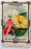 FOUR O'CLOCK, Fancy Mixed, Antique Seed Packet