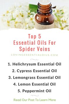 Are you looking for a natural way to improve your spider veins? Learn the best Essential Oils For Spider Veins, plus DIY Massage Oil Recipe - FREE Printable! Cypress Essential Oil, Lemongrass Essential Oil, Lemon Essential Oils, Essential Oil Uses, Essential Oils For Massage, Essential Oil For Spiders, Blog, Skin Care, Young Living