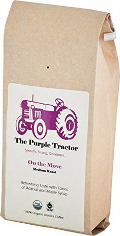The Purple Tractor USDA Organic & Fair Trade Specialty Medium Roast Coffee - The Worlds Smoothest Blend - http://mygourmetgifts.com/the-purple-tractor-usda-organic-fair-trade-specialty-medium-roast-coffee-the-worlds-smoothest-blend-2/