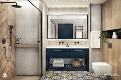 Bathroom with a double basin – arrangements, ideas, inspirations Bathroom Mirrors Diy, Laundry Room Bathroom, Bathroom Goals, Downstairs Bathroom, Bathroom Inspo, Bathroom Inspiration, Small Bathroom, Modern Bathroom Design, Bathroom Interior Design