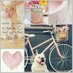 Wake up with a smile and go after life! #moodboard #mosaic #collage #inspirationboard #byJeetje♡