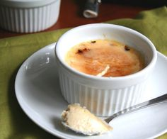 Greek Yogurt Creme Brulee, this looks much easier than the past creme brulee I've made