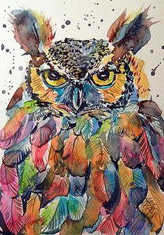 Colorful owl by Kovacs Anna Brigitta