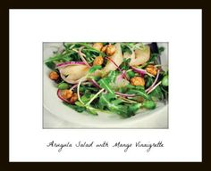 An amazing arugula  salad with mango vinaigrette. | Fit Bottomed Girls