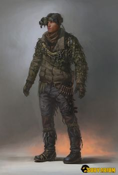 ArtStation - my concept art for survarium (tramps community, light sniper), Denis Didenko