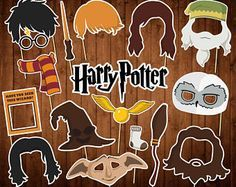 Harry Potter Photo Booth Props - Printable PDF - Harry Potter Birthday Props - Dobby - Hogwarts - INSTANT DOWNLOAD