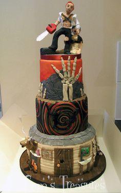 Tarta de boda Evil Dead