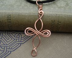 Celtic Cross Copper Pendant  Infinity Loops by nicholasandfelice, $ 16.50