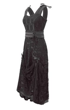 The Violet Vixen - Amy's Strapped and Lacey Black Dress, $117.00 (http://thevioletvixen.com/clothing/amys-strapped-and-lacey-black-dress/)   Black on Black Neo Victorian hipster dress with bunched up tie-up's for shorter hem in front, short sleeve tank style for summer with black satin base and black lace overlay.