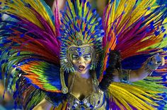 Revelers of the Vai-Vai samba school perform during the second night of carnival…
