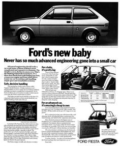#ThrowBackThursday - The 1976 Ford Fiesta Mk 1. Over a million of these were sold before 1980.