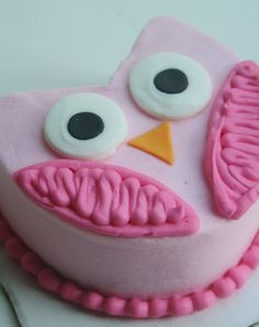 Smash Cake Idea! And Everything Sweet: Girlly Owl First Birthday