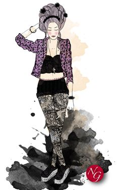 barocknroll  http://www.nefergarden.com/2013/01/15/barockn-roll/ #fashion #illustration