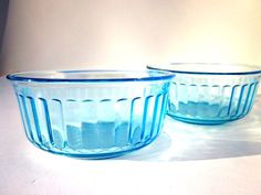 Depression Glass Blue Bowls Opalescent by ElmPlace on Etsy, $16.00