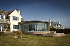 Extension, Thurlestone – Living Space Architects: Award-winning RIBA Architects based in Exeter, Devon Exeter Devon, Glass Facades, Sunroom, Minimalism, Living Spaces, Contemporary, Mansions, House Styles