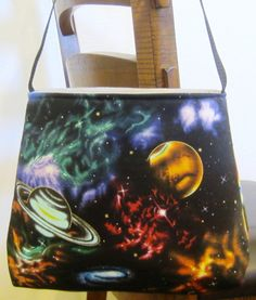 Space Purse Outer Space Bag Planets Purse by Allamericanacrafts