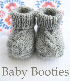 Baby Booties - Free Ravelry Pattern.  i must learn to knit, i must.  i wonder if you get endorphines when you're finished, like running.  even if not, these are too cute.