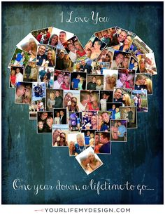 8x10 with 48 photos ❤ CollageDesign by http://yourlifemydesign.com/ #yourlifemydesign #photocollage #heartcollage #gift #giftideas #anniversary #homedecor #home #photography #collage #decor #decoration #walldecor