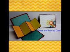 Art and Craft tutorial: How to make Twist and Pop up Card - YouTube
