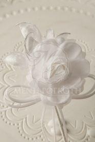 Μένη Ρογκότη - Μπομπονιέρα γάμου υφασμάτινο λουλούδι λευκό Icing, Desserts, Deserts, Dessert, Postres, Food Deserts