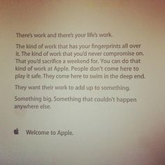 This inspiring note greets new Apple staff on their first day