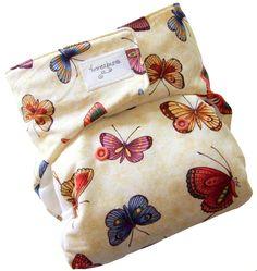 Bohemian Butterflies One Size Cloth Diaper by honeybunsclothdiaper