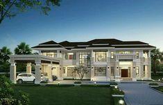 House Outside Design, House Gate Design, Kerala House Design, House Design Photos, Classic House Exterior, Classic House Design, Dream House Exterior, Bungalow Haus Design, Modern Bungalow House