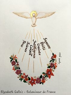 Catholic Religious Education, Religious Symbols, Catholic Art, Holly Spirit, Church Altar Decorations, St Charbel, St Nicholas Day, Première Communion, Saint Esprit