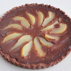 Chocolate Pear Tart vegan, plantbased, earth balance, made just right