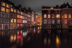 Floating Houses. - Amsterdam Canals, Holland.  Amsterdam is the most watery…