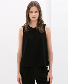 ZARA - COLLECTION AW14 - TOP WITH SIDE SLITS