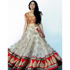 Buy Khantil Cream & Red Nylon Net Bridal Lehenga Choli online in India at best price.Specifications of New Cream & Red Nylon Net Bridal Lehenga Choli Blouse Fabric Banglori Silk Blouse Size Lehenga Choli Designs, Ghagra Choli, Silk Dupatta, Sharara, Salwar Kameez, Lehenga Wedding, Party Wear Lehenga, Bridal Lehenga Choli, Saree Gown