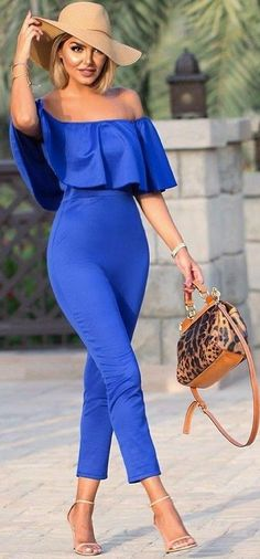 #summer #chic #feminine #style | Electric Blue + Nudes