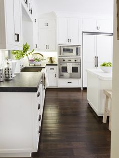 Bliss Design Firm - kitchens - 2 tone countertops, two tone countertops, stainless steel apron sink, white marble backsplash, white marble c...