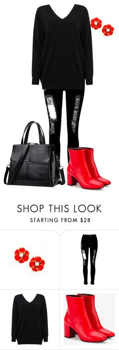 """""""Angle Boots"""" by nicole-flip on Polyvore featuring Kate Spade, WithChic, Cocoa Cashmere and Balenciaga"""