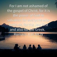 Unashamed of salvation