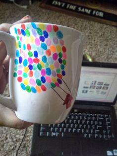 DIY UP inspired sharpie mug.