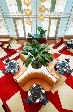 The Durham Hotel's Bold Design Design Café, Cafe Design, Design Ideas, Design Trends, House Design, Restaurant Interior Design, Cafe Interior, Kitchen Interior, Burger Bar