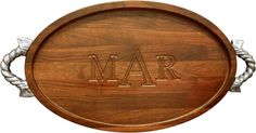 Walnut Grande Turkey 15x24 inch Oval Carving Board with Rope Handles