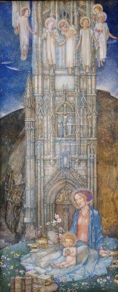 The Gothic Tower - Edward Reginald Frampton