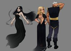 Kaltain, Aelin, and Rowan