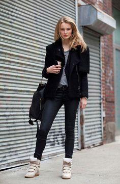 Leandra Medine in a Cool Slouchy Hat - New York Fashion Week Street Style - Harper's BAZAAR