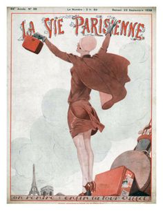 La Vie Parisienne, Magazine Plate, France, 1928 Premium Poster