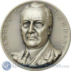 Warren G Harding Presidential Silver Art Medal - Medallic Art http://www.gainesvillecoins.com/category/293/silver.aspx