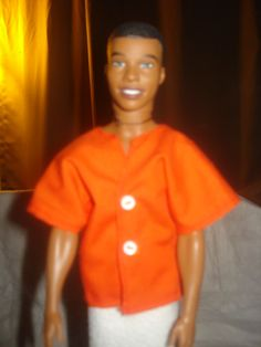 Handmade orange short sleeve shirt for Ken by KelleysKreationsLV, $4.25