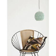 Housedoctor Pantalla / diseño colgante de la lámpara de cerámica con relieve, verde menta, 17 cm