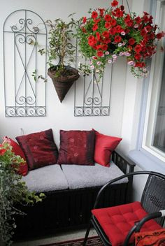 Balkon bambus and gartenentw rfe on pinterest for Wanddeko balkon
