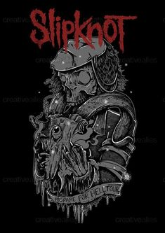Slipknot Merchandise Graphic by Grim Grizzly on CreativeAllies.com